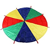 Livingly Light Colorful Parachute Sensory Integration Training Rainbow Kids Early Education Learning Umbrella Children Game Toy