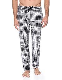Blue Wave Cotton Black And Off White Checkered Pyjama