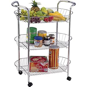 vegetable storage trolley kitchen 3 tier kitchen vegetable fruit storage trolley cart 6755