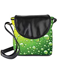 Snoogg Dew Drops Vector Background Womens Sling Bag Small Size Tote Bag