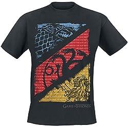 Juego de Tronos Diagonal Sigils Camiseta Negro M