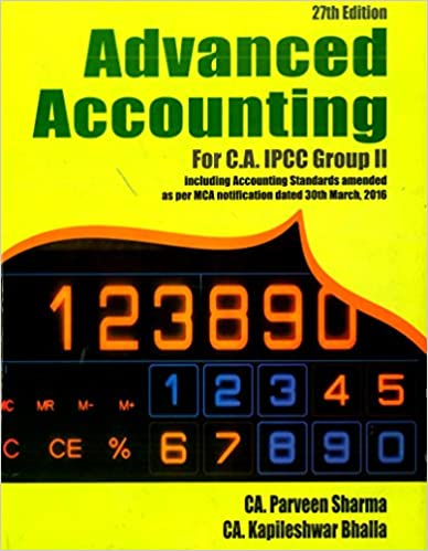 Parveen Sharma Advanced Accountancy for CA Intermediate (IPC) Group II