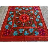 Handicraftofpinkcity Suzani Embroidered Tapestry Suzani Embroidered Wall Hanging Suzani Embroidered Table Runner...