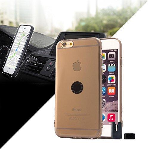 Funda transparente con soporte magnético para coche iPhone 6 /...