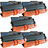 5 Replacement Toner Cartridges For Brother TN750 TN-750 Toner Cartridge Replacement For Brother TN-750