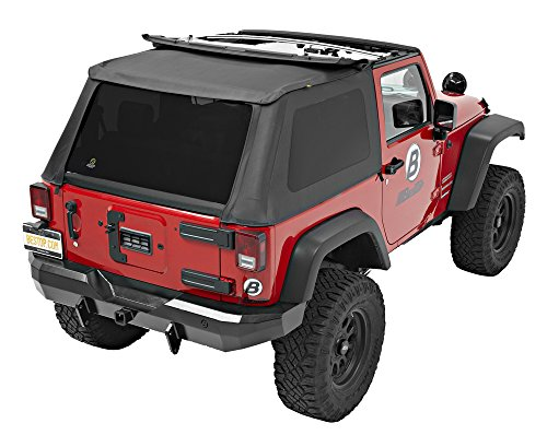 Bestop 56822-35 Black Diamond Trektop NX Complete Frameless Replacement Soft Top with Sunrider® Sunroof Feature