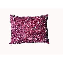 Ultra-Snob Rossetto-Glitterati Faux Dupion Cushion Pink