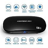 TV Box, Pictek®Android 5.1, Reproductor multimedia inteligente, Rockchip 3368 64bits Octa-core ARM Cortex A53 CPU, RAM 2G + 16G eMMC Flash, apoya UHD 2K x 4K, Bluetooth 4.0, H.265, HDMI 2.0, WiFi y Miracast / Airplay / DLNA y Gigabit rojo y OTA, para casa