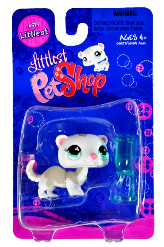 "Hasbro Year 2007 Littlest Pet Shop Single Pack ""Littlest"" Series Bobble Head Pet Figure Set #579 - W"