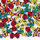 Fun Express - 144 Mini Insect Erasers