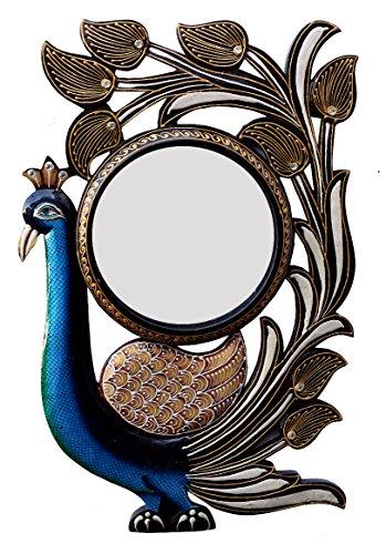 Ghanshyam Art Wood Peacock Wall Mirror (30.48 Cm X 4 Cm X 45.72 Cm, GAC071)