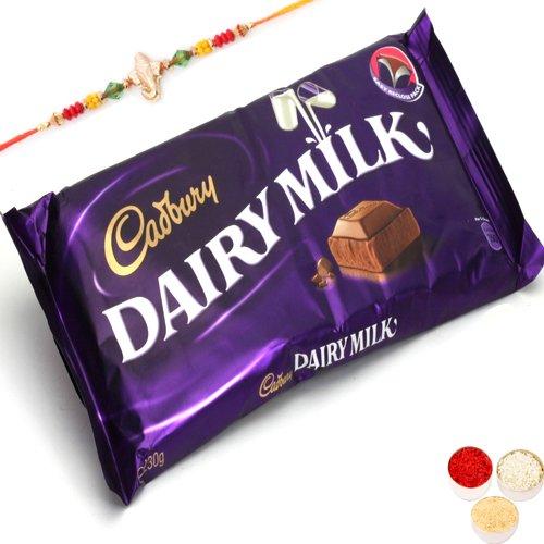 Rakhi Gifts Chocolates-Cadbury Dairy Milk Giant Bar-r1