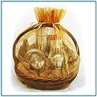 1pc Organza Sheer Gift Basket Bag Pouch 22″ x 25.5″ – Gold