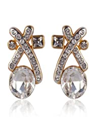 Estelle Gold Plated Stud Earing With Crystals (490/725)
