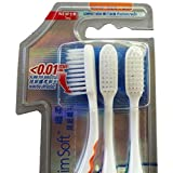 Colgate Slim Soft Compact Ultra Soft Bristles Toothbrush 3pcs 0.01 Mm Slim Tip Bristles, Deeper And Gentle Clean...