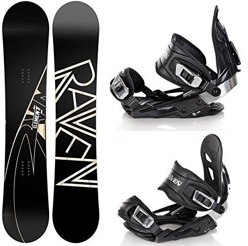 Snowboard Set: Snowboard Raven Element Carbon + Bindung Raven s400 Black M/L