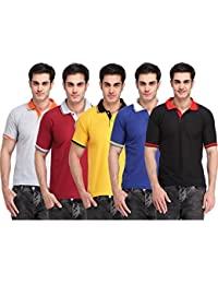 SHOPPERSSTREET Offers Combo Of 5 Polo T-shirts Tipping Design