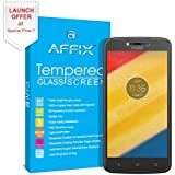 Affix Motorola Moto C Plus [5.0 Inch] Premium Tempered Glass Screen Guard Protector With Free Cleaning And Application Kit