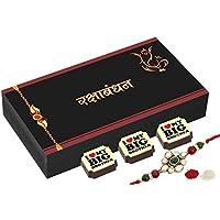 Rakhi Gift - 6 Chocolate Gift Box - Rakhi With Chocolates