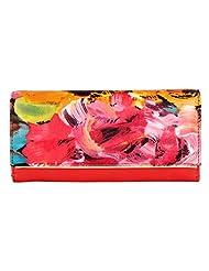 LOMOND LM109 Bifold Wallet (Floral Print/Red)