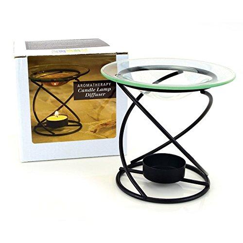 Aura Cacia Spiral Candle Lamp Black -- 1 Diffuser