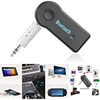 Techonto Wireless Car Bluetooth Receiver 3.5mm Portable Bluetooth Kit With Mic For Car, Music System, Home Theatre
