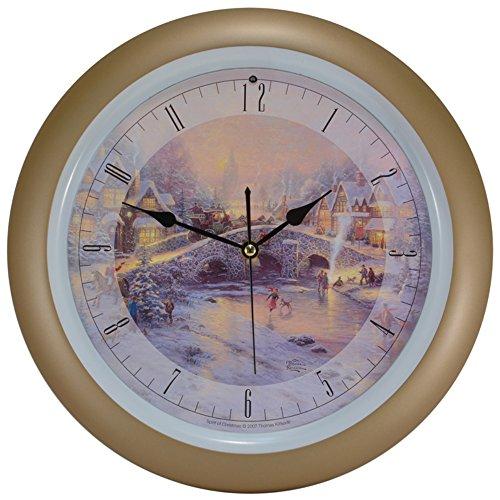kinkade spirit of christmas musical christmas carol clock - Musical Christmas Clock