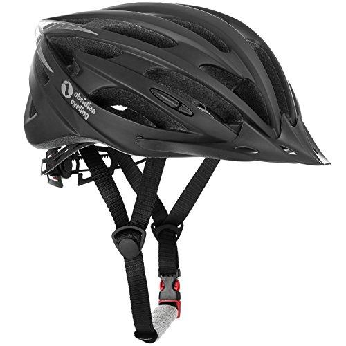Team Obsidian Unisex Airflow Bike Helmet, M/L, Matte Black