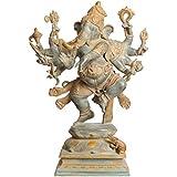 Aone India Large Size Ashtabhuja-dhari Yuddha Ganesha (Ganesha The Spiritual Warrior) + Cash Envelope (Pack Of...