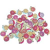 Imported 50pcs Cartoon Snail Wood Buttons Sewing DIY Craft Scrapbooking Kids DIY
