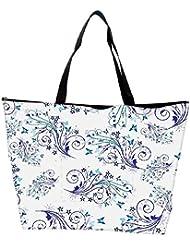 Snoogg Blue Pattern Design Designer Waterproof Bag Made Of High Strength Nylon - B01I1KNTT4