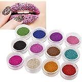 Insten Nail Art Mini Beads Glitter Set, 12 Color
