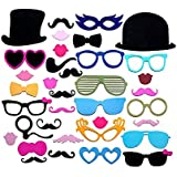 Christmas Decoration Colorful Photo Booth Props Set Of 36 Mustache On A Stick Wedding Party Photobooth Funny Masks...
