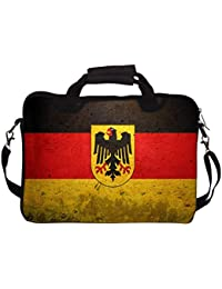 """Snoogg German Flag 12"""" 12.5"""" 12.6"""" Inch Laptop Notebook SlipCase With Shoulder Strap Handle Sleeve Soft Case With..."""