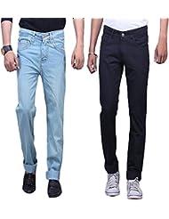 X-CROSS Men's Slim Fit Jeans Combo (Pack Of 2)