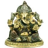 "Redbag ""Ganadhipati"" Shri Ganesha - Brass Statue ( 7""H X 6.50""W X 4.75""D )"
