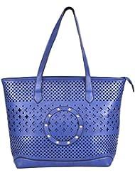 Ecadence Women's Shoulder Bag (Blue, ECA048C)
