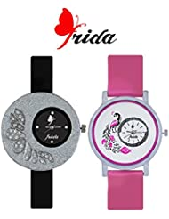 Frida New Latest Beautiful Designer Branded Multi Color PU Belt Analog Awesome Looks Best Offer In Deal Casual... - B01IBJSJTU
