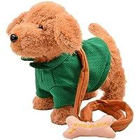 Happy Cherry Electric Leash Dog Plush Toy Dog Music Robot Dog Remote Childrens Toys Electronic Pet Dog Walking... - B01ANMHPHU
