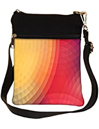 Snoogg Colorful Circles Cross Body Tote Bag / Shoulder Sling Carry Bag