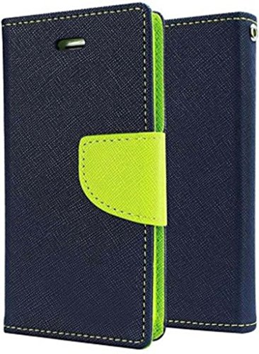 RJR Mercury Goospery Wallet Style Flip Back Case Cover For Asus Zenfone 5 -Blue&Green
