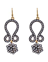 Out Of The Box Party Wear Gold Plated Earring Set For Women (OOTB030)