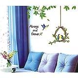 Generic DIY Always & Forever Bird's Nest Romantic Wall Stickers Vinyl Decals Home Decor