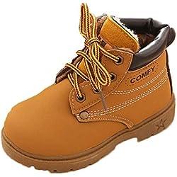 Saingace Krabbelschuhe boots 1 ~ 6 Alter Winter-Baby-Kind-Armee-Art-Martin Stiefel warme Schuhe (25, Gelb)