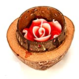 Ghasitaram Gifts Scented Candle In A Wooden Shell(Multi Colour,Round)