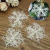 Generic 60pcs White Snowflake Christmas Tree Hanging Ornaments Holiday Decorations