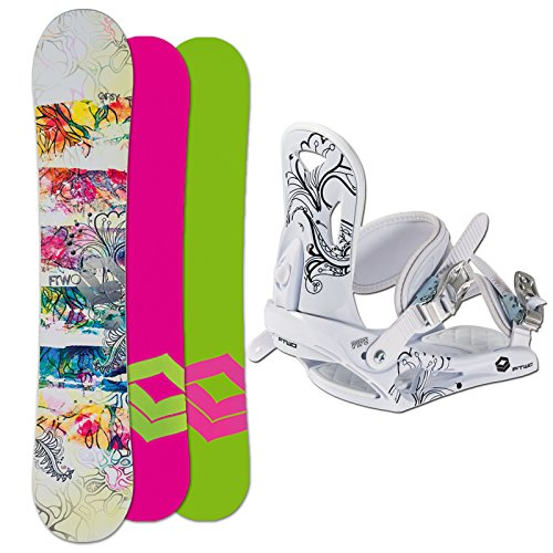 FTWO Snowboard SET GIPSY white Lady 143cm 2015 + Pipe white Gr. M
