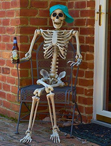 Prextex 5 Ft. Tall Halloween Skeleton- Full Body Halloween Skeleton for Best Halloween Decoration