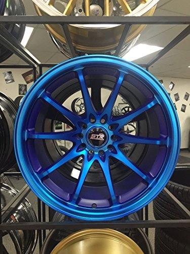 FOUR 18 INCH STR RACING STR518 D8905 BLUE WHEELS RIMS SET 5×112 5×4.5 OFFSET 30
