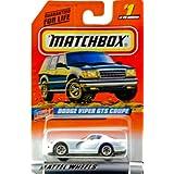 1997 Mattel Matchbox #1 Of 75 Vehicles Dodge Viper Gts Coupe White / Blue Stripes Star & Stripes Edition Series...